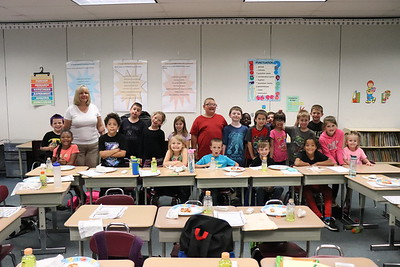 Veronica Hine's second-grade classroom raised $156.93.