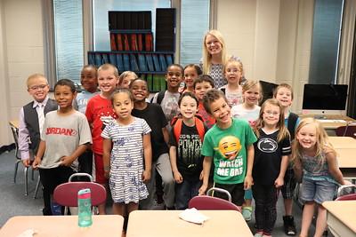 Tabatha Almond's first-grade class raised $170.05.