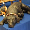 I fell in love with the life-size black lab carved by John R. Garton of Garton Originals.