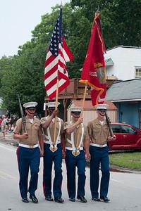 2014 Shrimp Festival USMC Color Guard