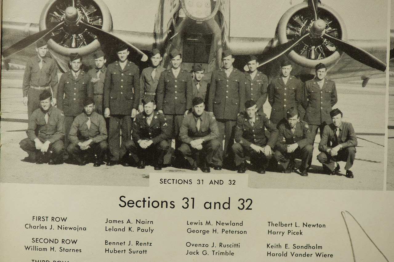 This is from graduation book for aerial gunner school. Note the middle initial is wrong. Its hard to see but Jacks eyes are closed.