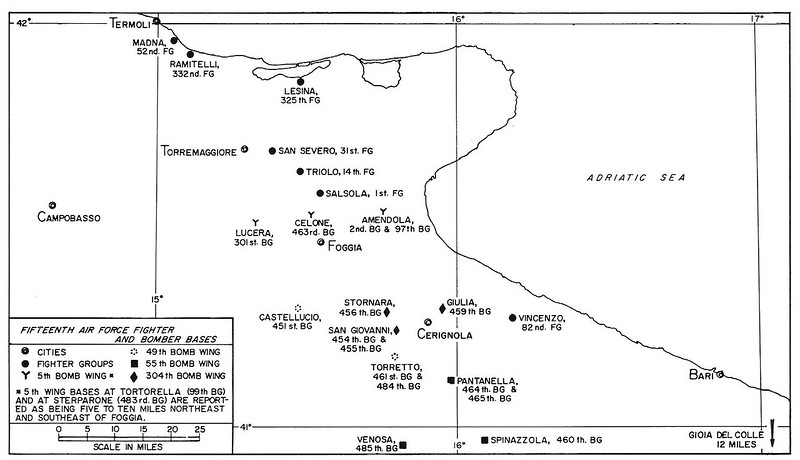 Fifteenth Airforce Base Map