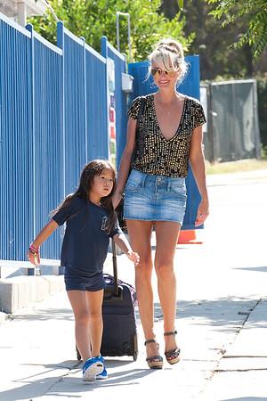 Laeticia Hally and Joy seen in Los Angeles