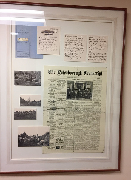 This is one of the panels depicting the history of the Monadnock Community Hospital in Peterborough. They appear on a ground floor corridor. Something like this might be done for the Dean Murder.