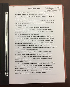 This apparently a draft of Bert Ford's book, The Dean Murder Mystery.