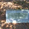 Georgiana Hodgkins burial site at Conant Cemetery, Jaffrey, NH. April 2016.
