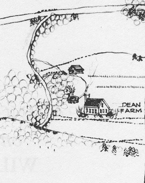 Map of Jaffrey appearing in Margaret Bean's book.