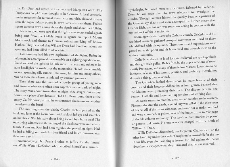 "'Murder and the Mountains' in ""It Happened in New Hampshire"" by Stillman Rogers, second edition 2012. Pages 106-07."