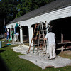 Painting the Horsesheds. October 2005.