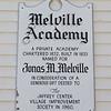 Melville Academy plaque, April 15, 2016.