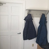 Dublin Archives, vestibule, coat rack, door to bathroom & boiler. March 25, 2019.