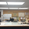 Dublin Archives, work area looking west. March 25, 2019.