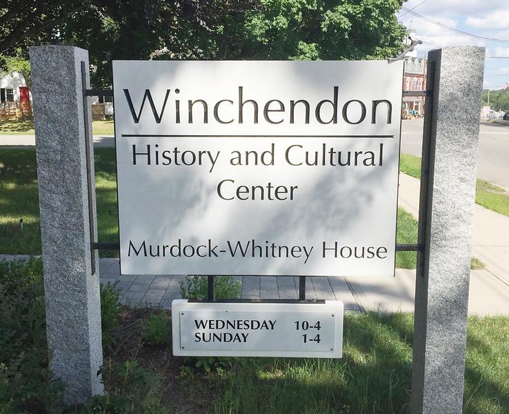 Winchendon Historical Society, 26 July 2017.