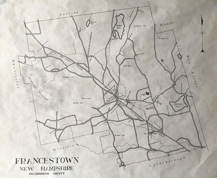 Francestown Improvement & Historical Society. Map of Francestown. September 9, 2015.