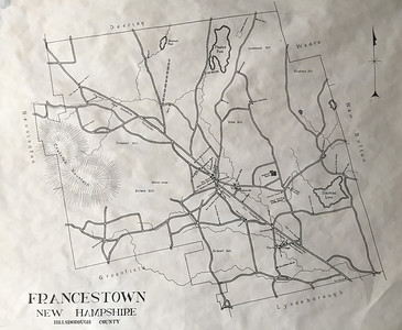 Francestown Improvement & Historical Society. Map of Francestown. September 9, 2015.