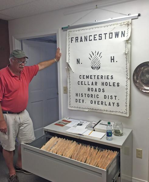 Charlie Pyle. Francestown Improvement & Historical Society. September 9, 2015.