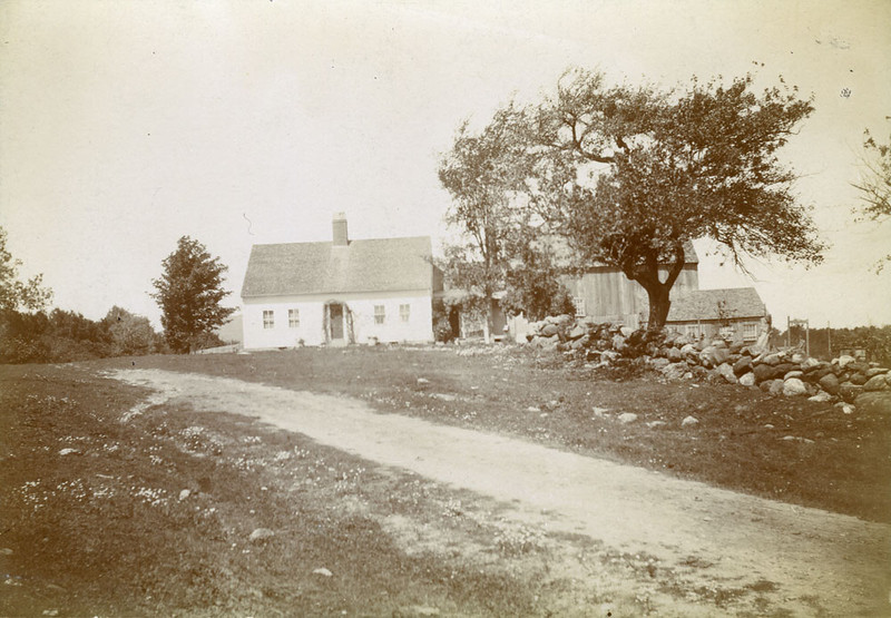 """On verso, in pencil, what appears to be """"King his Place."""" Could be """"Kinghis Place."""" The house is almost surely the one now owned by Dan and Jackie Johnson on Ingalls Road just over the line in Rindge. It was built in 1823 by Stephen Knight so the pencil notation may refer to that name. It is also known as the Liberty Jewell house."""