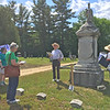 Conant Cemetery Walking Tour, June 18, 2016. #3 Alonzo Bascom by Dick Boutwell.