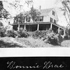 Photograph from the Cutter Albums of the Jaffrey Historical Society. Bonnie Brae, house on Main Street of Mabelle Cutter, later Hanson, then Stephenson.