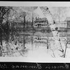 """Photograph from the Cutter Albums of the Jaffrey Historical Society. Cutter house on Main Street , later Hollingsworth, then Bean. The photograph was reversed but is corrected here, hence the backward writing which reads: """"Cousin Emma's."""""""