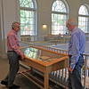 Items in the Stefansson Collection, Dartmouth College, Hanover NH, 2 September 2016. Jay Satterfield and Ross Virginia at Shackleton exhibit.