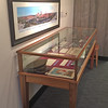Display cases at the Manchester Historical Association, September 21, 2016.