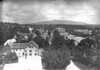 011. Looking west from the tower of the Baptist Church, Turnpike Road on the right and Monadnock on the hotizon. Date: 1892.