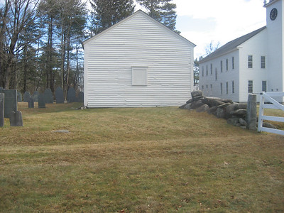 The original location of the second Hearse House. The footings can still be seen.