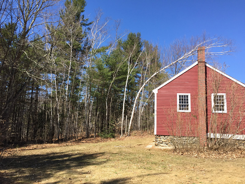 South and west sides of the Little Red Schoolhouse, April 15, 2015.