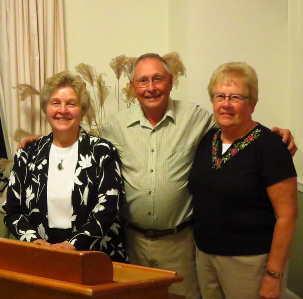 Coll's Poultry Farm program, August 14, 2014. Betty Royce, Archie Coll, Jr., and Helen Coll.