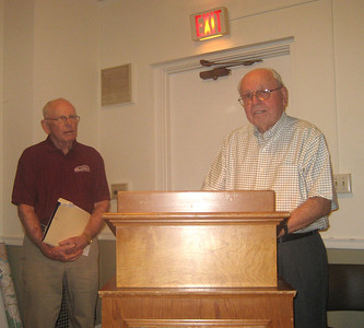 Ted Shea and Reynold Belletete at the Annual Meeting, August 8, 2013.