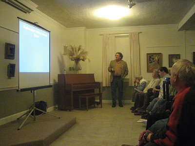 """Prof. Robert Goodby speaking at the Society on 10 April 2014: """"12,000 Years Ago in the Granite State."""""""