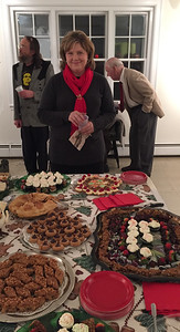 JHS-Civic Center Christmas Party, December 11, 2015. Refreshment overseen by Pam Royce.