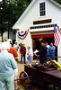 In front of the old firehouse on Main Street (Rt 124) in Jaffrey Center, NH, June 1999.