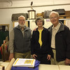 Rob Stephenson with Tara and Emery Prior in the Archives, 8 October 2016.