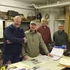 Dick Richards, Brad Bledgett, Bruce Hill and Dick Boutwell in the Archives researching railroad history. May 2016.