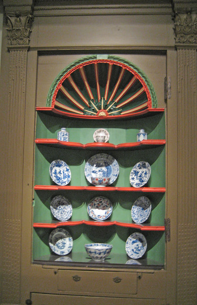 Cupboard from the George Jaffrey house, Portsmouth, NH. Now at the Museum of Fine Arts Boston.