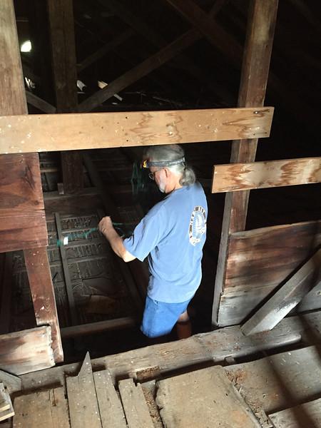 Paul Wainwright in attic, July 9, 2015.