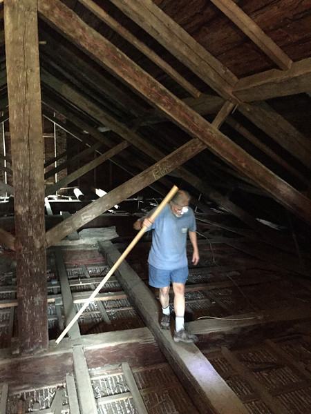 Paul Wainwright in attic, July 9, 2015.