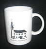Meetinghouse mug produced by Robert Stephenson for the Meetinghouse conference, 1996.