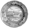 Commemorative plate featuring the Meetinghouse produced for the centennial of the Jaffrey Center Village Improvement Society, 2006.