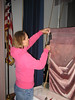 Grange curtain restoration at the Meetinghouse