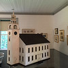 This model of the Meetinghouse was made by Bowman Cann who carried out the 1922-23 restoration. It is in  Melville Academy.