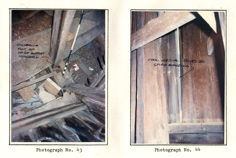 Photographs taken by Structural Engineer Conor Power, April 10, 1990.