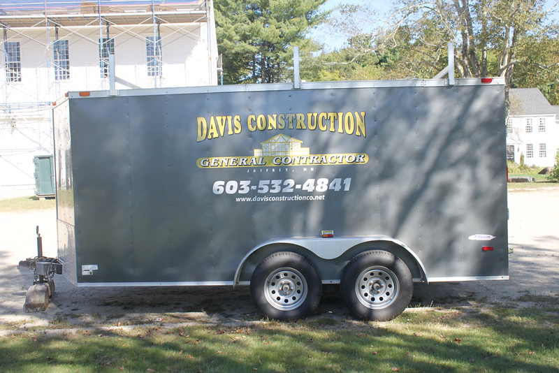 Saturday, September 23, 2017. Davis Construction, contractor for roof replacement.