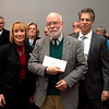 Governor Hassan presenting LCHIP grant award to Rob Stephenson. December 8, 2016. Photo: Perry Smith.
