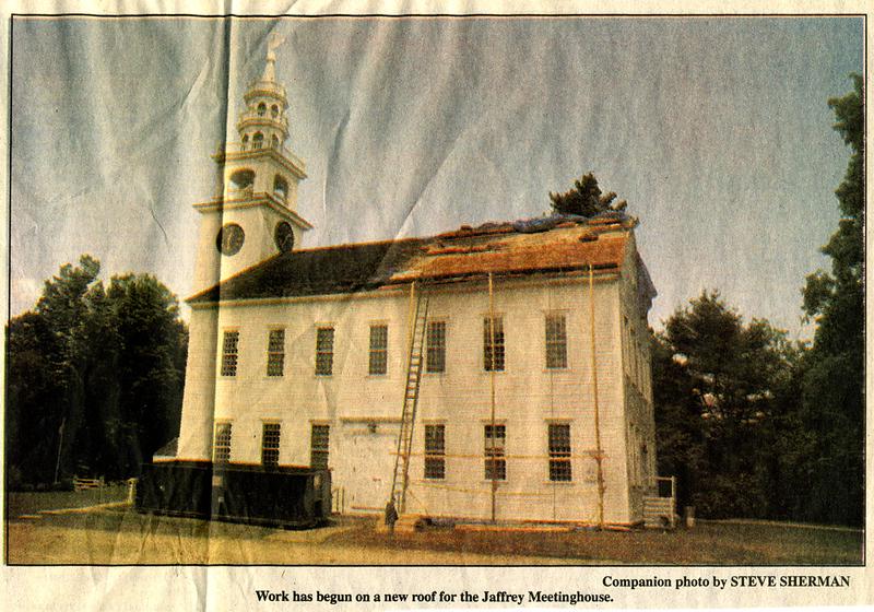 Monadnock Home Companion, July 28, 1995.