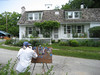 Chris Reid painting the Cunningham house. July 11, 2008.