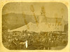The Tent set up in front of the Meetinghouse. Probably taken from the hotel.