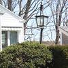 Original Jaffrey streetlight on Tieger property on east side of Bradley Court, April 15, 2016.